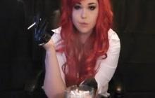 Redhead smoking