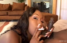 Aryana Starr smoking and blowing a dick