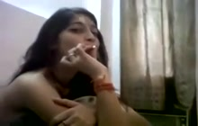 Adorable Desi teen with her BF