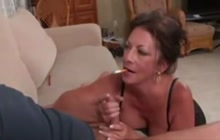 Mature Brunette Sucks And Takes Facial